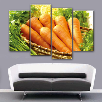 Unframed Wall Art Canvas Modern Painting Carrot Printed Pictures Home Decoration